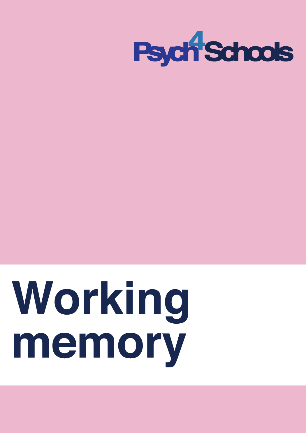 Working Memory Difficulties Free Resources Psych4schools