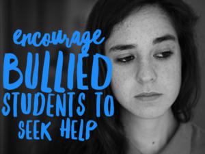 bullied sad student